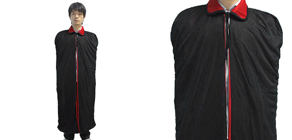 Red Black Long Vampire Cape Halloween Costume Accessory