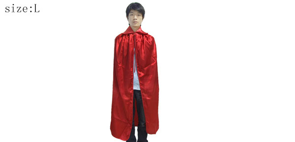 Large Red Cape with Tie Closure
