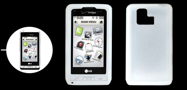 Clear White Silicone Mobile Phone Case for LG VX9700