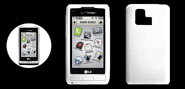 White Silicone Mobile Phone Case for LG VX9700