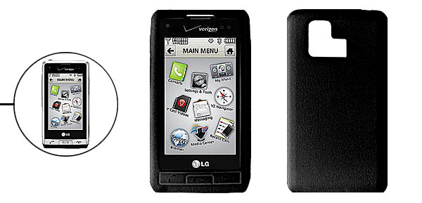 Black Silicone Mobile Phone Case for LG VX9700