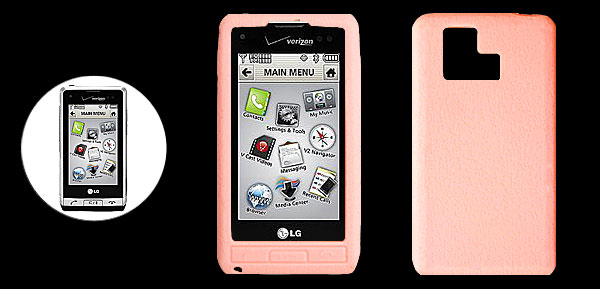 Pink Silicone Mobile Phone Case for LG VX9700