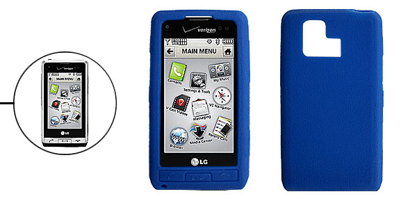Blue Silicone Mobile Phone Case for LG VX9700