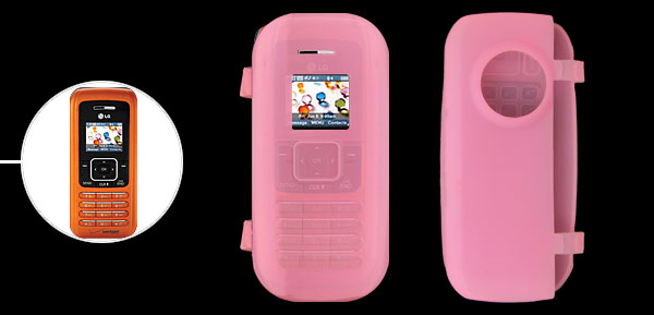 Pink Silicone Mobile Phone Case for LG VX9900