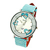 Fashion Sweet Heart Pattern Dial Dress Watch