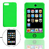 Green Silicon Cover Protector Case for iPod Touch 2G 2nd Gen