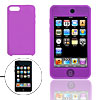 Silicon Skin Protector Case for iPod Touch 2G 2nd Gen Purple
