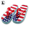 Stylish American Flag Soft Flip-Flop Slippers Sandal for Ladies