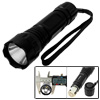 5W Powerful White LED Light Torch Aluminum Black Handy Flashlight