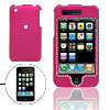 Silvery Rhinestone Ornament Magenta Plastic Case for iPhone 3G