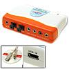 External USB 7.1 Sound Audio Box Card Adapter Orange