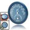 Mini Dual Scale Indoors Wall Mounted Thermometer Hygrometer Blue