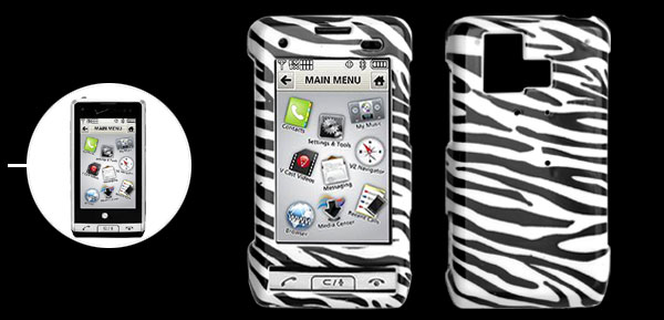 Hard Plastic Case with Zebra List Pattern for LG VX9700