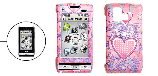 Hard Plastic Case with Pink Heart Pattern for LG VX9700