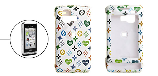 White Hard Plastic Case with Stars Pattern for LG VX9700
