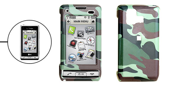 Hard Plastic Case with Army Camouflaged Pattern for LG VX9700