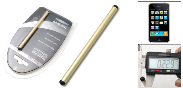 Replacement Gold Tone Touch Screen Stylus Pen for Apple iPhone 5
