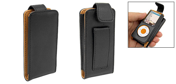 Leather Flip Case for iPod Nano Chromatic 4th Generation