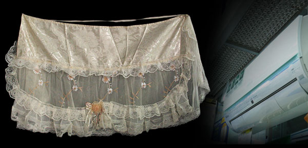 Embroidered Flower Lace Indoor Air Conditioner Covers