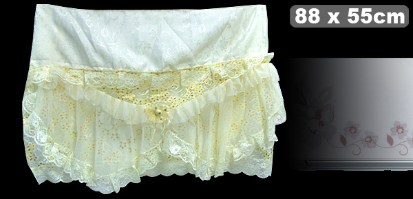Gold-tone Flower Pattern Lace Air Conditioner Cover