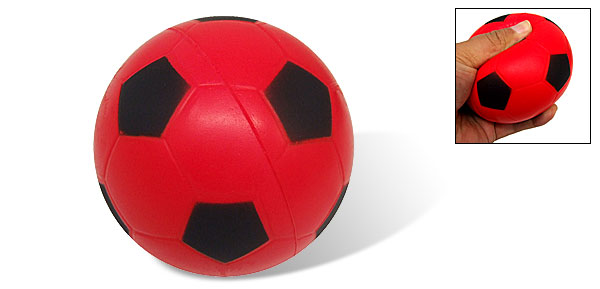 Red and Black Soft Squeeze Football like Kids Baby Play Foam Stress Sponge Ball