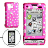 Amaranth Pink Hard Plastic Case with Silvery Star Pattern for LG ...