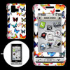 White Hard Plastic Case with Colorful Butterfly Pattern for LG VX...