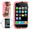 Pink Dog Family Photo Silicone Skin Case Cover for Apple iPhone 3...