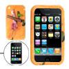 Cigarette Pattern Orange Silicone Case Protector for Apple iPhone...