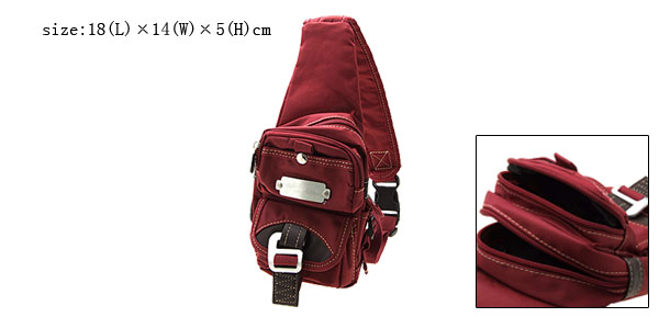 Single Mono Strap Support Shoulder Triangle Backpack Bag Purse Scarlet