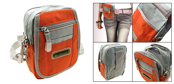 2 in 1 Orange Mini Waist Belt Bag Shoulder Bag