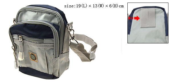 Blue and Gray Nylon Casual Shoulder Waist Belt Bag