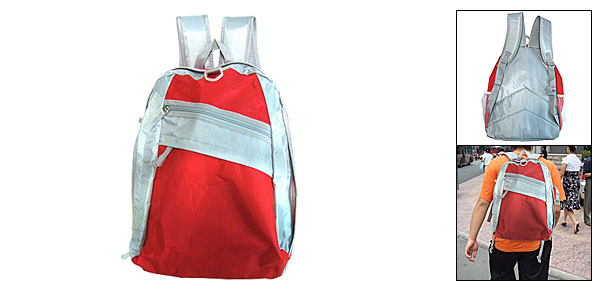 Red Travel Bag Adventurer Double Shoulder Backpack Knapsack