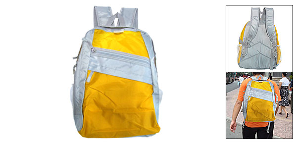 Yellow Backpack Knapsack Shoulder Pack