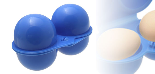 Easy Carrying Mini Blue Plastic Eggs Case Box