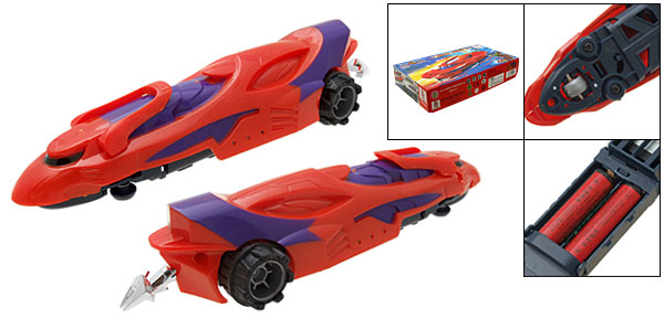 Plastic Cruel Wolf Battery Operated Fast Racing Kid's DIY Car Toy Red
