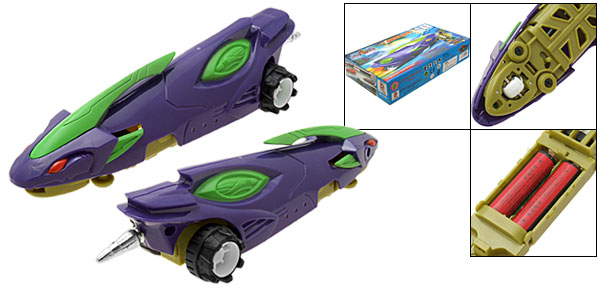 Battery Powered Fast Racing Car Children's DIY Toy Purple and Green