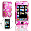 Silvery Flower Pattern Amaranth Pink Plastic Case for iPod Touch ...