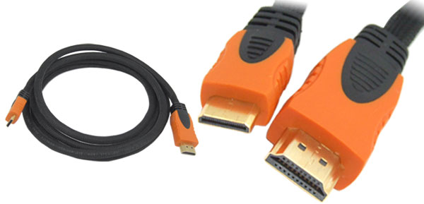 1.8m Mini-HDMI Male to HDMI Male Cable for Canon Nikon Camera DV