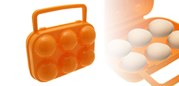 Portable Folding Orange Plastic Eggs Case Box
