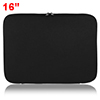 "14"" 14.1"" Black Neoprene Dual Zipper Laptop Notebook Sleeve Case ..."