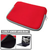 "Red 13.3"" Double Zippers Laptop Notebook Carying Sleeve Bag Case"