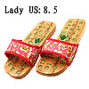 Butterfly Pattern Lady's Wooden Healthy Foot Massage Clogs Slippe...