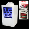 White Projection Digital Alarm Clock Calendar Thermometer