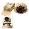 Fashion Ladies Knit Cloche Hat Flapper Cap with Scarf Beige
