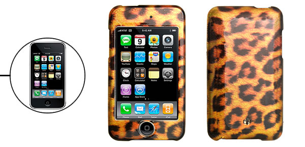 Leopard Print Hard Plastic Protector Case for iPod Touch II 2nd Generation