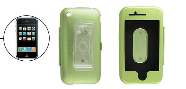 Green Protective Aluminum Case Cover with Clip for Apple iPhone 3G