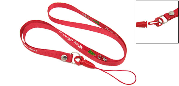 X'mas Red Neck Strap Lanyard String for Moblie Cell Phone Camera Keys Mp3 Mp4