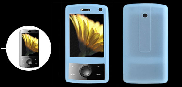 Skyblue Silicone Skin Mobile Phone Case for Dopod HTC P3702