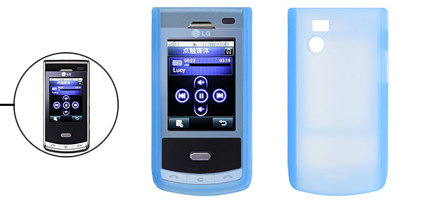 Sky Blue Silicone Skin Mobile Phone Case for LG KF750 KF755
